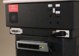 Air & Water Convenience Outlets & Dedicated Power Supply for Table Top Instruments are Located on the Back of the Unit.