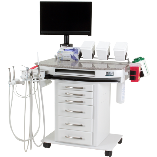 Ambidextrous Rear Wall Dental Delivery System, 90-2054