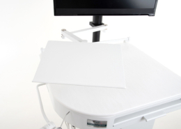 Optional post mounted keyboard tray PN 90-KP16